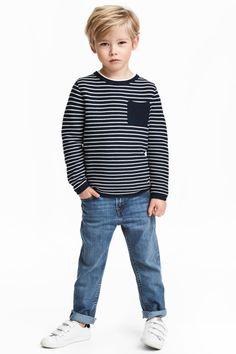 Slim Fit Jeans - My favorite children's fashion list Toddler Boy Fashion, Cute Kids Fashion, Little Boy Fashion, Toddler Outfits, Boy Outfits, Child Fashion, Baby Boy Hairstyles, Toddler Boy Haircuts, Toddler Hair