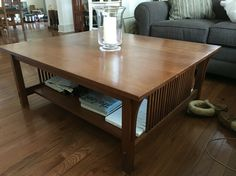 "Shaker style Stickley coffee table. 3' by 3'8"". -MH"