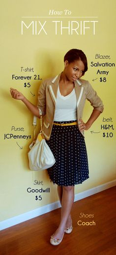 Mixing thrift store clothing with your wardrobe