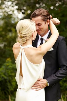 swooning over that back and her simple updo