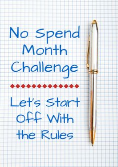 No Spend Month Challenge: Let's Start Off With the Rules                                                                                                                                                                                 Mehr