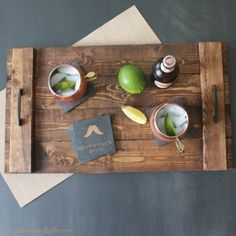 Beckham + Belle: DIY Holiday Gifts - Wooden Serving Tray