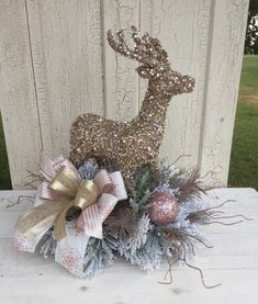 """Excellent """"counter height table diy"""" info is offered on our internet site. Check it out and you wont be sorry you did. Christmas Greenery, Christmas Arrangements, Christmas Deer, Christmas Centerpieces, Floral Arrangements, Christmas Wreaths, Christmas Crafts, Christmas Ornaments, Rose Gold Christmas Decorations"""