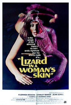 lizard in a womans skin- movie poster