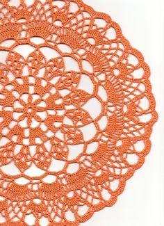 Christmas gift, Crochet doily, lace doilies, crocheted place mat, orange £5.50