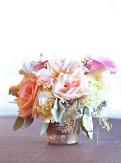 mercury glass vase. event by greenorchidevents.com, image by chelsea-nicole.com