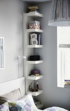 20 Organization Ideas for Small Places Pinterio.com Corner Storage Solution to Rule Your Small Space