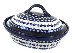 Polish Pottery Flowering Peacock Roaster with Lid ** Want additional info? Click on the image. (This is an affiliate link) #BakeandServeSets
