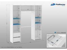 Closet 8 Prateleiras 2 Gavetas Diamante - Politorno com as melhores condições você encontra no Magazine Edsonloures. Confira!