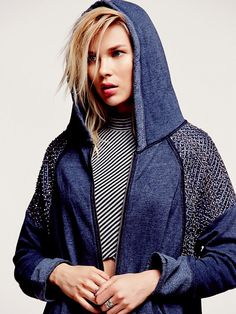 Free People Sparkle Dust Zip Up Hoodie at Free People Clothing Boutique