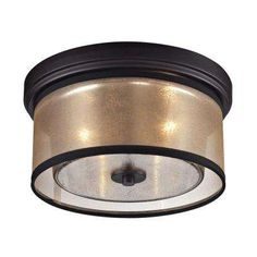 Hearthstone Collection 2-Light Oil-Rubbed Bronze Flushmount