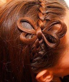 DIY Cute Braided Butterfly Hairstyle | www.FabArtDIY.com LIKE Us on Facebook ==> https://www.facebook.com/FabArtDIY
