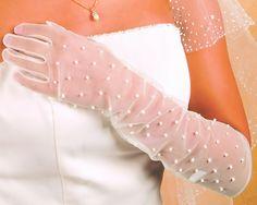 #Wedding #Gloves Beaded