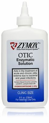 """""""Do you have a dog with chronic yeast infections in his/her ears? I spent hundreds of $$ at the vet on prescriptions that didn't work. I tried home remedies that I found on the web that didn't work. Then I found this. Zymox Otic with 1% hydrocortisone. After only 3 treatments it worked and she's been free of this for 3 months. I bought the large 8oz bottle because I fully expect it to come back at some point but I'll be ready. This stuff is amazing!"""""""