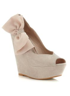Chaussures compensées WHAM chair avec nœud en mousseline - Chaussures - Miss Selfridge France - Neeed ♥ - Shop is all you Neeed !