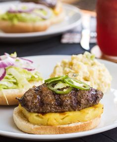 Recipe: Hawaiian Burgers with Grilled Pineapple — Grill Recipes from The Kitchn