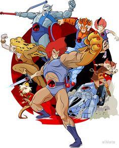 'Thundercats' Sticker by elMete - Christophorus Hodgen Old School Cartoons, Retro Cartoons, Cartoon Tv, Classic Cartoons, Cat Character, Character Design, Super Anime, Fanart, 80 Cartoons