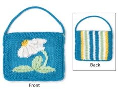 Grandmother's Pattern Book » Flower Purses, Bags and Totes to Knit for Spring – free patterns