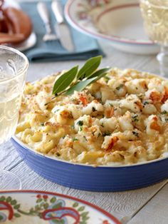 Cheesy Pasta and Lobster Bake Mac & Cheese (made with gnocchi)