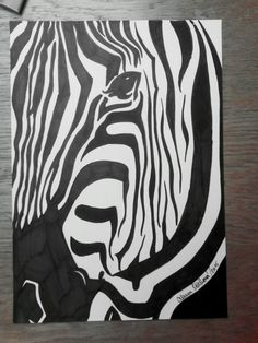 Only black marker drawing