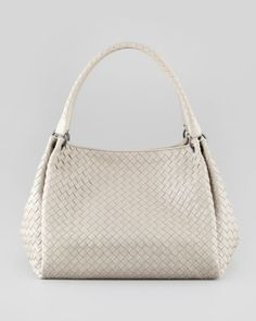 Parachute Intrecciato Medium Tote Bag, Gray by Bottega Veneta at Bergdorf Goodman.