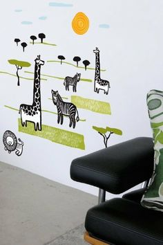 Wee Gallery Safari Wall Stickers by Blik Wall Decals. $38.00. 21 various sized landscaping pieces - clouds, trees, grass, and more.Includes:One 9 inch giraffeOne 16 inch giraffeOne 4 inch zebraOne 6 inch zebraOne 6.5 inch lionOne 4.5 inch sun