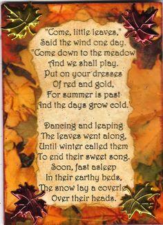 fall poem.....