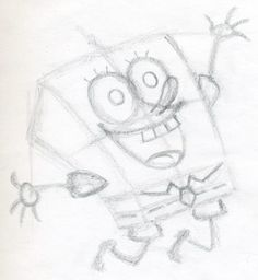 Would like to know how to draw Spongebob square pants? Drawing any animation characters is a perfect lesson and spongebob is simply among such instances. Spongebob Drawings, Easy Cartoon Drawings, Funny Sketches, Spongebob Square, Square Pants, Simple Cartoon, Sakura Haruno, Drawing Tips, Illustration Art