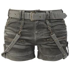 Studded Hot Pants by EMP Black Premium
