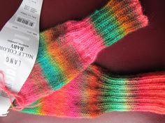 Ravelry: annafrieda's rainbow baby legwarmers
