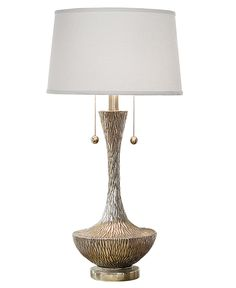 Regina Andrew Table Lamp, Embossed Silver Vessel Lamp - I really want two of these for the living room!!