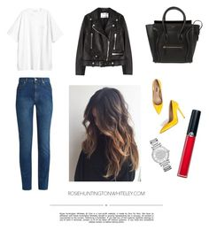 """""""Simple"""" by mnemo7 on Polyvore featuring Alexander McQueen, Acne Studios, CÉLINE, Whiteley, Giorgio Armani and Michael Kors"""