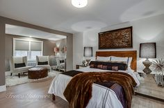 Luxurious heritage home master bedroom design complete with renovated boutique master lounge area. Fireplace Facade, Custom Fireplace, Character Home, Master Bedroom Design, Lounge Areas, New Kitchen, Fresco, Bedrooms, Bedroom Decor