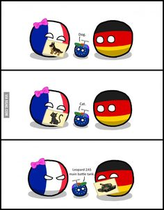 """Parenting part - II"" ( EU Germaney France ) by Baron koleye of kolaje #polandball #countryball #flagball"