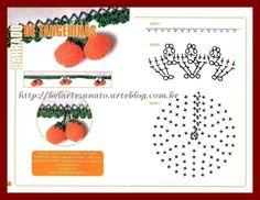 Como fazer bicos de crochê de frutas com gráficos passo a passo Frutinhas lindas para decorar sua cozinha Pano de pratos, guardanapos, cortinas e decoração