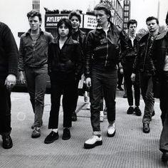 Teddy Boys on Kings Road, Chelsea. Precursor to the mod scene.