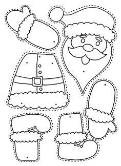 Christmas – Colour, cut, pin and play – 6 designs – PRECOLOURED & BLANK Xmas split pin activitity - weihnachten-neujahr Christmas Arts And Crafts, Christmas Activities For Kids, Preschool Christmas, Felt Christmas Ornaments, Christmas Colors, Christmas Projects, Preschool Crafts, Kids Christmas, Holiday Crafts