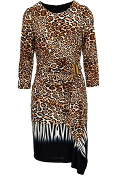 Frank Lyman Leopard Print Wrap Dress - 64433
