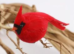 Package OF 12 Bright RED Artificial Cardinal Birds FOR Christmas Tree Ornaments   eBay