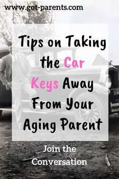 Tips on managing the conversation that may take the keys away from your aging pa. - Tips on managing the conversation that may take the keys away from your aging parents! Dealing With Dementia, Alzheimer's And Dementia, Parenting Memes, Good Parenting, Aging Backwards, Aging Parents, Body Tissues, Elderly Care, Caregiver