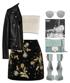 """""""aching"""" by mikaylaperrine ❤ liked on Polyvore featuring Topshop Unique, Zimmermann, Calvin Klein Collection, Yves Saint Laurent, Jimmy Choo and Ray-Ban"""