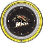 14 in. Western Michigan University Neon Wall Clock, Multi
