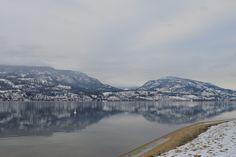 Snowy views from City Park, Kelowna