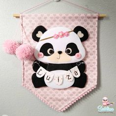 Baby Crafts, Felt Crafts, Crafts For Kids, Baby Sewing Projects, Sewing Crafts, Barbie, Bear Felt, Felt Bookmark, Panda Party