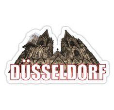 ' Sticker by crickmonster Dusseldorf Germany, North Rhine Westphalia, Stickers, Prints, Souvenir, Decals