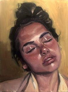 Acrylic Portrait Painting, Painting & Drawing, Oil Portrait, Portrait Paintings, Paintings Of Faces, Painting Of Girl, Self Portrait Art, Art Oil Paintings, Painting Process