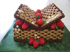 Chocolate picnic basket cake :)