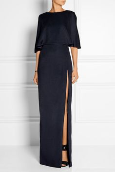Cushnie et Ochs open-back stretch-satin jersey maxi dress, $1,995 on Net-a-porter.com