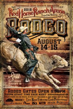2015 Red Horse Ranch Arena Rodeo Poster