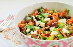 Delicious & Gluten Free: Chorizo, Bean & Kale Noodle Bowl (Spiralized)